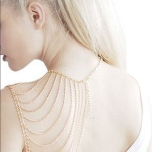 Jewelry - Gold Body Shoulder Chain Necklace